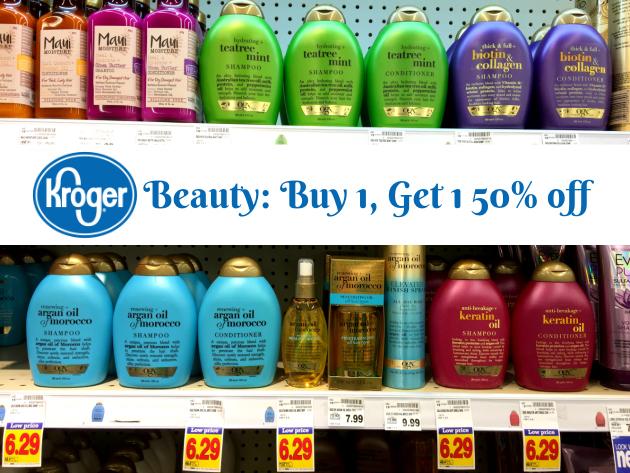 Kroger Sale: Beauty & Health Buy 1, Get 1 50% off