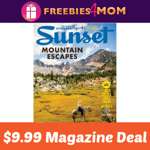 Magazine Deal: Sunset $9.99