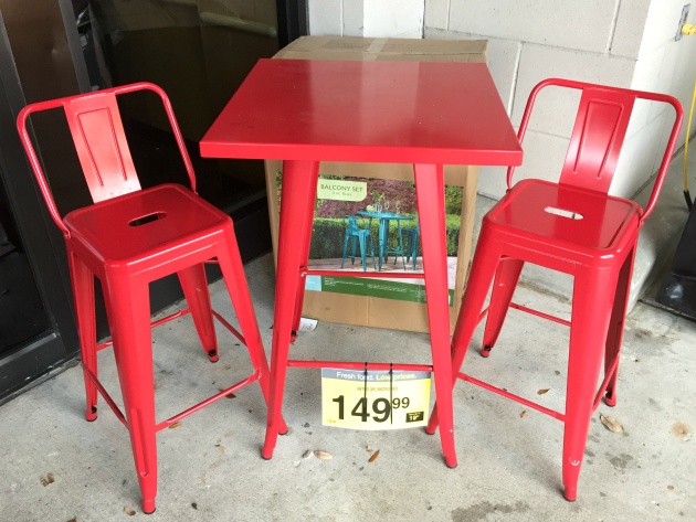 Amazing Kroger: Spring Patio Furniture. Bistro I Also Have A Soft Spot For This Red  Metal Retro Bistro 3 Piece Set For $149.99 Because I Love The Color!