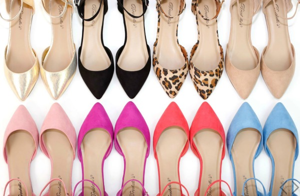 Ankle Strap Pointed Toe Flats $21.95