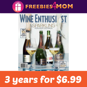 Magazine Deal: 3 Years of Wine Enthusiast $6.99