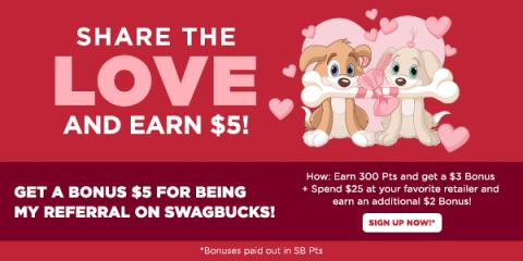 Get $5 when you sign-up for Swagbucks