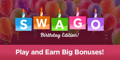 Swagbucks: Play Birthday Swago on Feb. 27