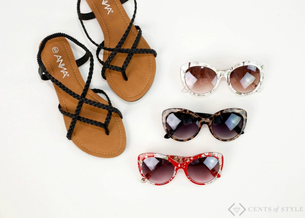 Sandals & Sunglasses 2 for $21.95