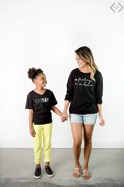 50% off Women's & Kid's Day of the Week Shirts
