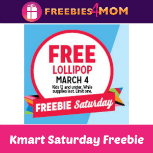 Free Lollipop at Kmart March 4