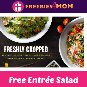Free Salad at P.F. Chang's Mon-Wed