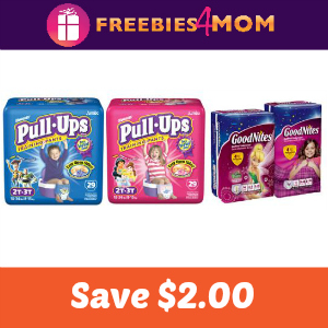 Coupon: $2.00 off one Pull-ups or Goodnites
