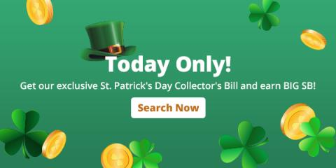 Swagbucks St. Patrick's Day Collector's Bill