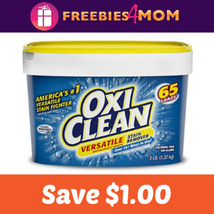Coupon: $1.00 off one OxiClean