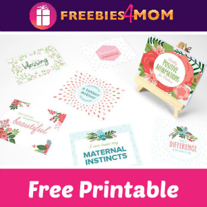 Free Positive Affirmations for Mom Printable