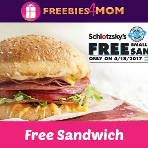 Free Original Sandwich at Schlotzsky's April 18