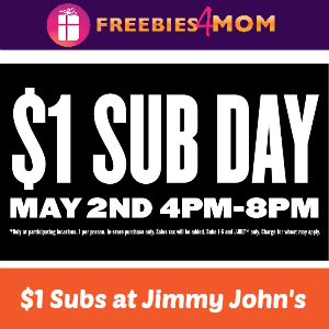 $1 Subs at Jimmy John's May 2