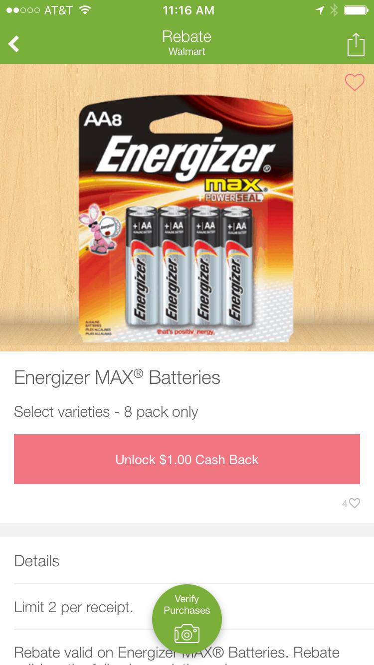 Energizer Max Battery Rebate at Ibotta