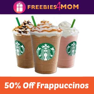 Starbucks Half Price Frappuccinos May 5-14