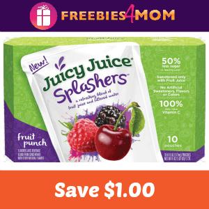 Coupon Save $1.00 on Juicy Juice Splashers