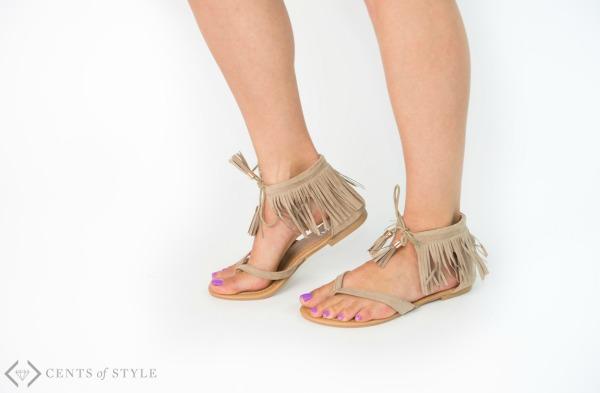 $14.95 Sandals + Earring Deal