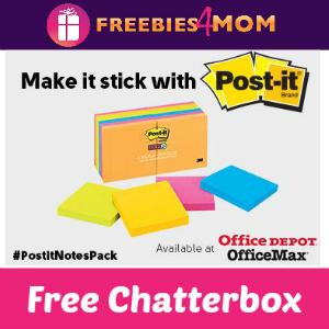 Free Chatterbox: Make it Stick with Post-it