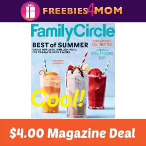 Magazine Deal: Family Circle $4.00