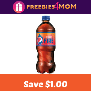 Coupon: Save $1.00 off one Pepsi Fire 20oz