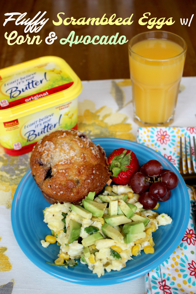 Fluffy Scrambled Eggs with Corn & Avocado Recipe & $10 off $30 Unilever at Randalls