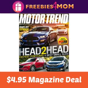 Magazine Deal: Motor Trend $4.95