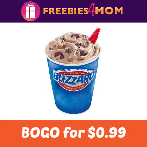 Buy One Dairy Queen Blizzard, Get One for $0.99
