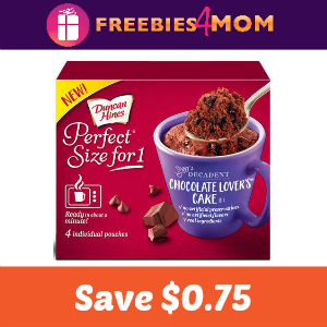 Save on Duncan Hines Perfect Size for 1 Cake