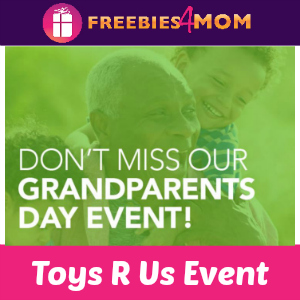 Free Grandparents Day Event at Toys R Us