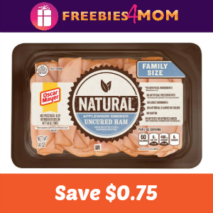 Save $0.75 on any Oscar Mayer Natural Cold Cuts