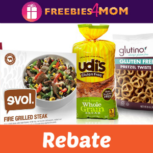 Rebate: $7 Back on 3 Udi's, Evol & More