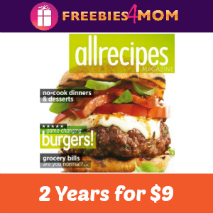 2 Years of Allrecipes Magazine for $9