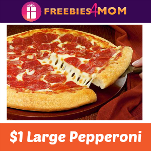 $1 Large Pepperoni at Pizza Hut