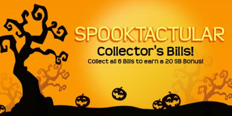 Swagbucks Spooktacular Collector's Bills