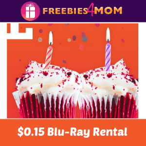 $0.15 Redbox Blu-Ray Rental