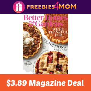 Magazine Deal: Better Homes & Gardens $3.89