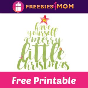 Free Christmas Wall Art Printable