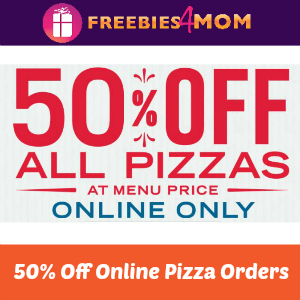 50% off Online Pizza Orders at Domino's