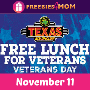 Free Lunch for Veterans at Texas Roadhouse