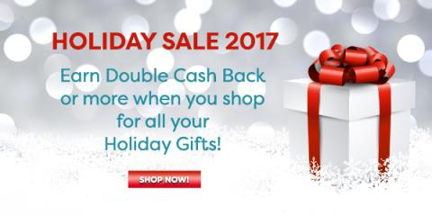 Double Cash Back Holiday Sale