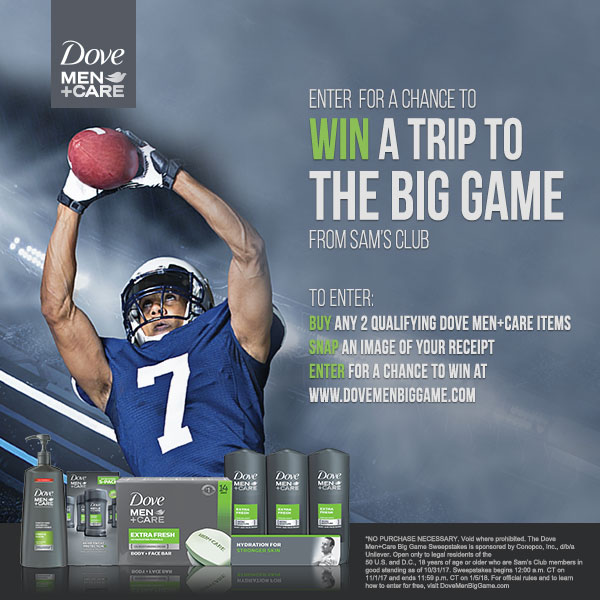 Dove Men+Care Big Game Sweepstakes