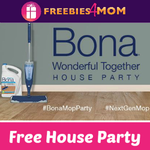 Free House Party: Bona Mops (Get 2 Free Mops)