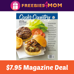 Magazine Deal: Cook's Country $7.95