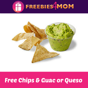 Free Guac or Queso at Chipotle
