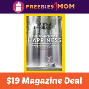 Magazine Deal: National Geographic $19