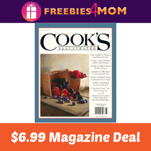 Magazine Deal: Cook's Illustrated $6.99 (thru Sat)