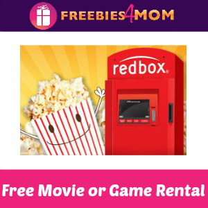Free Redbox Movie or Game Rental