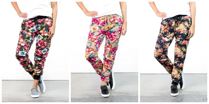 $19.95 Floral Joggers