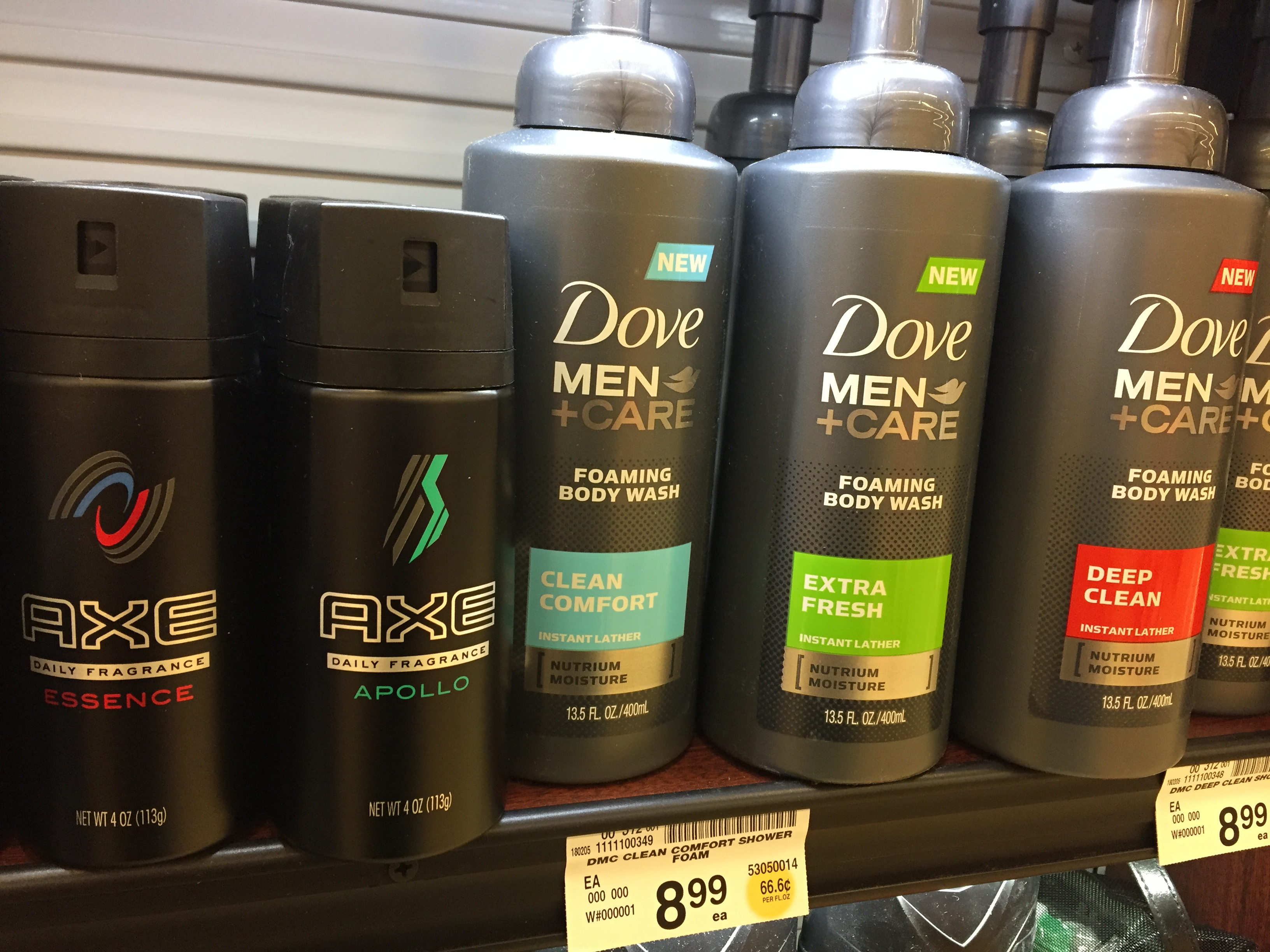 Dove Men+Care Foaming Body Wash at Randalls