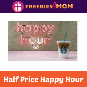 Half Price Happy Hour at Starbucks